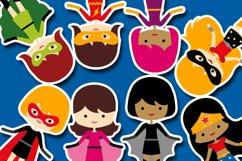 More girl superhero clipart graphics / superheroes girls Product Image 2