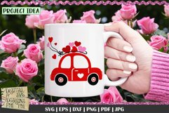 Love Bug Car with Hearts SVG | Valentines Car SVG | Love Car Product Image 3