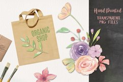 15 Floral Jenna Watercolors Flowers Painted Pink Elements Product Image 2