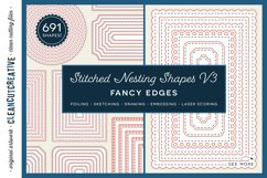 Stitched Nesting Shapes V3 Fancy Edges | sketch foil SVG Product Image 1