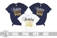 Birthday queen svg   Birthday Squad svg   Women's birthday Product Image 5