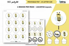 Bee themed party kit, kids party decor, bee first birthday Product Image 6