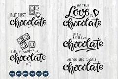 Chocolate SVG Bundle. Lettering SVG PNG Vector. Product Image 1