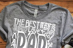 Dad SVG, Father's Day SVG, typography word art Svg, Eps, Dxf Product Image 3