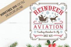 Reindeer Aviation svg Christmas svg Product Image 1