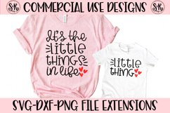 Little Things Mommy and Me SVG DXF PNG Product Image 1