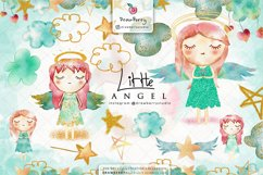 Watercolor Baby Angel Clipart | Drawberry CP030 Product Image 1