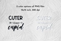 Cuter than cupid valentine quote SVG. Dog bandana cut file. Product Image 4