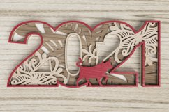 New Year laser cut file - 2021 - Year of the Ox Product Image 6