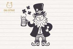 St. Patricks day svg, Leprechaun, Leprechaun with Beer Mug Product Image 2