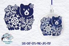 Snowflake Animal SVG Bundle   Winter Animal SVG Cut Files Product Image 3