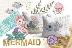 MERMAIDS Sea Tropical Color Vector Illustration Set Product Image 3