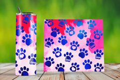 Skinny Tumbler Wraps Watercolor Pet Paws Product Image 2