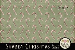Christmas Scrapbook Papers - Shabby Christmas Backgrounds Product Image 6
