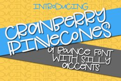 Cranberry Pinecones - A Bounce Font With Silly Accents Product Image 1