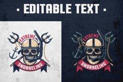 Extreme Diving Retro Emblem Product Image 1