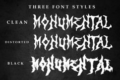 Monumental Purgatory - 3 Awesome Deathmetal Fonts Product Image 2