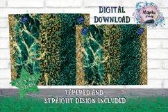 Emerald Leopard 20oz Sublimation skinny tumbler wrap Design Product Image 3