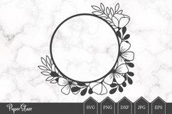 Floral Wreath SVG Cut File Product Image 1