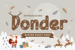 Donder - Winter Fancy Font Product Image 1