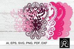 3D Layered Mandala - Love Dove - SVG Product Image 2