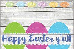 Easter Eggs monogram SVG, Split Easter Eggs, Egg Cut file Product Image 4