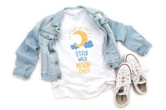 Stay wild moon child svg Moon and stars svg files for cricut Product Image 6
