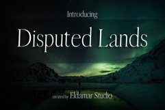 Disputed Lands Font Product Image 1