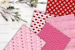 Pink Valentine Digital Paper Pack Product Image 4