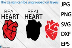 Real Heart Design - Clip art / Cutting Files 1348c Product Image 2