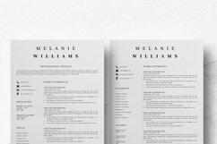 Resume Template Minimalist | CV Template Word - Melanie Product Image 6