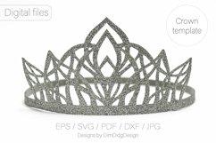 Princess crown svg Birthday party crown Princess tiara Product Image 4
