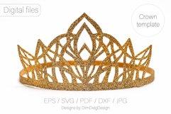 Princess crown svg Birthday party crown Princess tiara Product Image 1