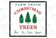 Farm Fresh Christmas Trees  File Set | SVG, EPS, DXF, PNG Product Image 1