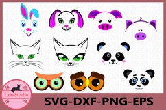 Face Svg, Animal Silhouette, Face Animal Clipart, Face Product Image 1