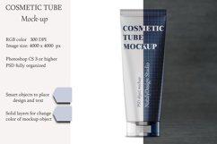 Cosmetic tube mockup. Transparent lid. Product mockup. Product Image 1