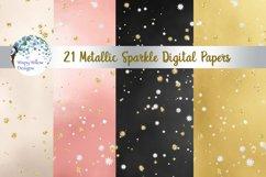 Metallic Sparkle Digital Paper Set Product Image 2