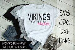 Vikings Football Mama, A Football SVG Product Image 1