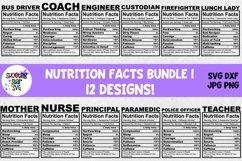 Nutrition Facts SVG Bundle Product Image 1