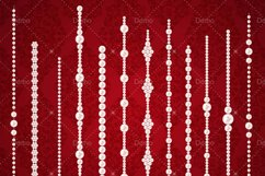 Hanging Pearl Chain Pearl String Pearl Strand Pearl Clip Art Product Image 5