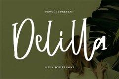 Web Font Delilla - A Fun Script Font Product Image 1