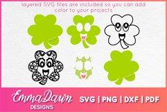 St PATRICK'S DAY CLOVER SVG BUNDLE 6 DESIGNS Product Image 4