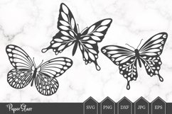 Set of Three Butterfly SVG/DXF Cut Files Product Image 1