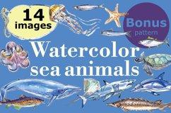 Watercolor sea animals & bonus! Product Image 1