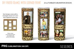 Skinny Tumbler Sublimation - Leopard Print Photo Frames Product Image 5