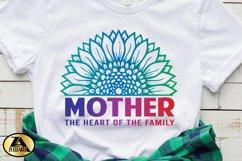 Mother SVG Mothers Day SVG Mom Life SVG Sunflower Heart SVG Product Image 5