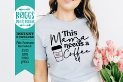Funny Mom Shirt   Mama needs a coffee, mothers day shirt Product Image 1