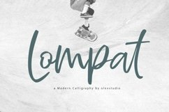 Lompat - Luxury Handlettered Font Product Image 1