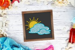 3d SVG Layered Sun and Clouds | Sunshine SVG Product Image 4