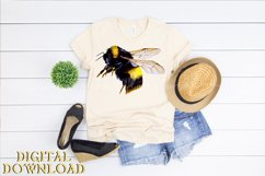 Bumble Bee Clipart Watercolor SVG PNG PDF JPEG Product Image 4